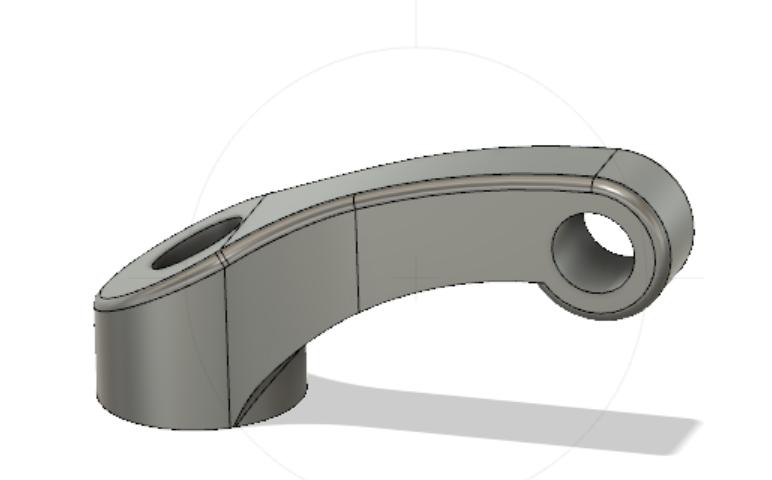 CAD drawn ariel support