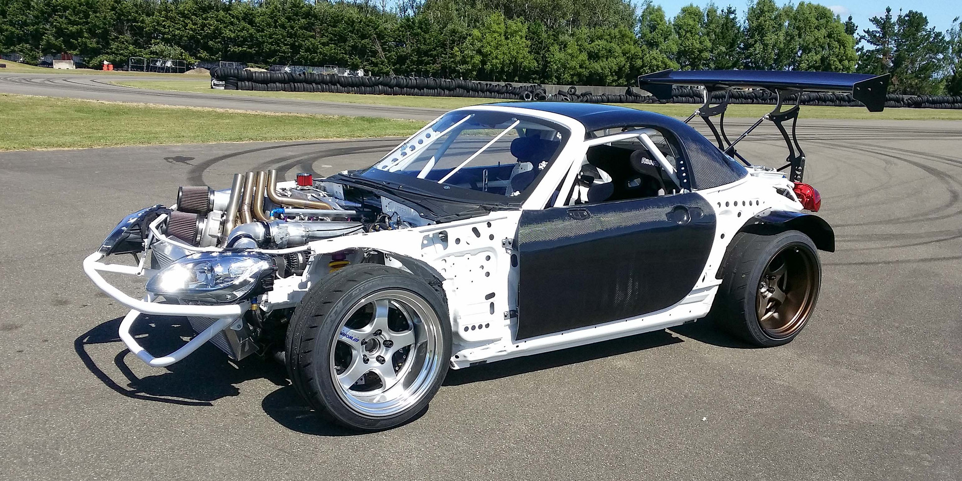 Top secret testing and shake down with Mad Mike before the PPRE built MX5 went to the USA for formula drift