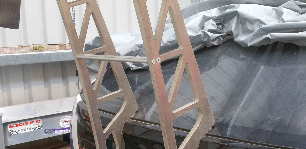 AFTER - CAD drawn - lazer cut- Mounted to chassis supports for correct downforce loading