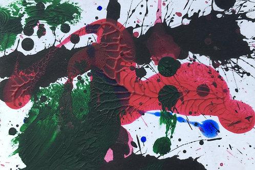 Abstract Card I | Acrylic on card | 9 cm x 6 cm
