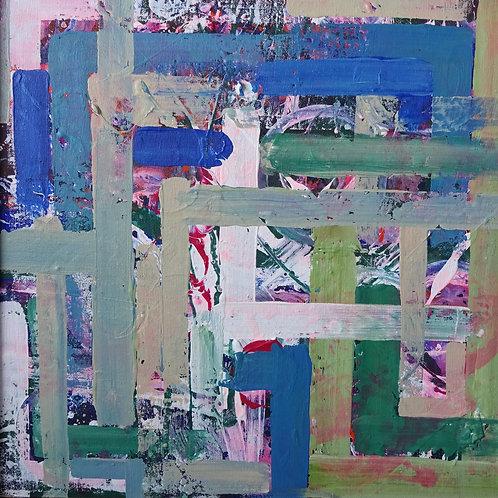 Azaleas at St David's | Acrylic on canvas | 50 cm x 50 cm
