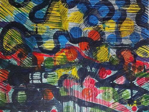 Abstract III | Acrylic on canvas | 50 cm x 40 cm