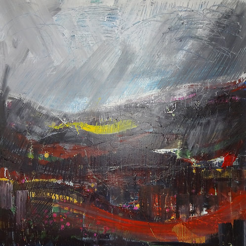 Preseli Rain | Acrylic on canvas | 100 cm x 100 cm