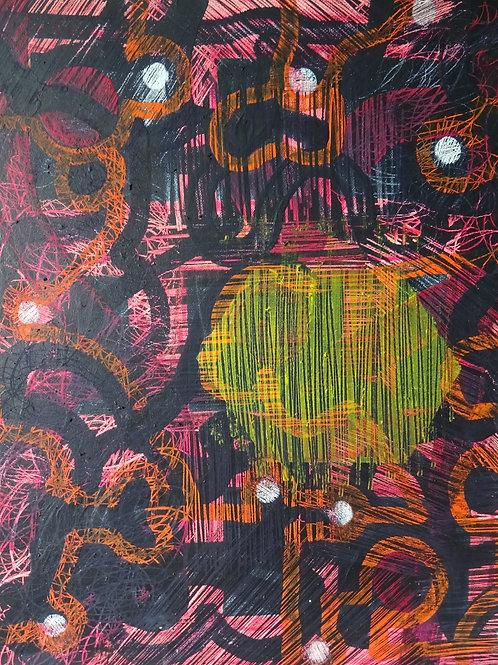Nine Stars | Acrylic on canvas | 40 cm x 50 cm