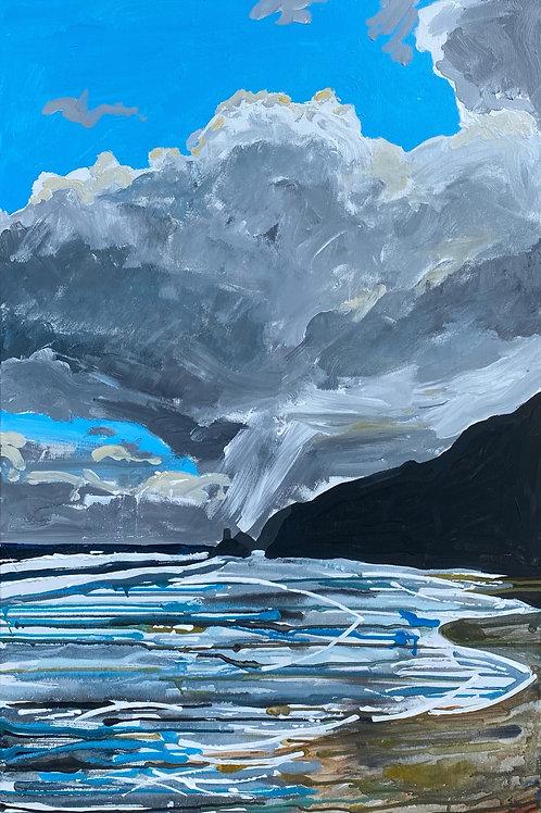 Traeth Penbryn Beach | Acrylic on canvas | 92 cm x 61 cm | 2020