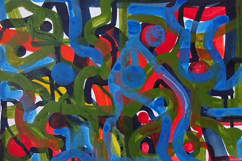 Abstract IX | Acrylic on paper | 40 cm x 30 cm