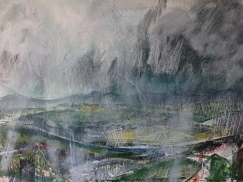 Preseli Rain Setting In | Acrylic on canvas | 50 cm x 40 cm