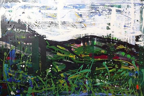 Where the Railway Used to Run | Acrylic on canvas | 92 cm x 61 cm
