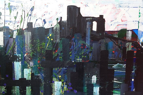 Castle by the River | Acrylic on canvas | 92 cm x 61 cm