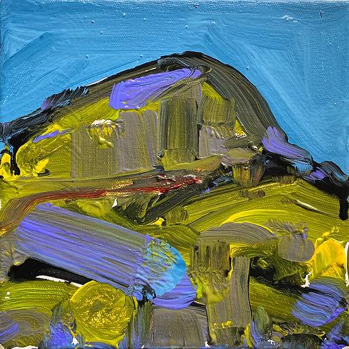 West Wales Landscape | Acrylic on canvas | 20 cm x 20 cm | 2020