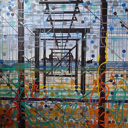 West Pier Brighton | Acrylic on canvas | 91 cm x 91 cm
