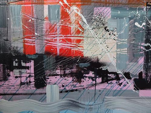 Sunset Bardsey   Acrylic on canvas   76 cm x 60 cm