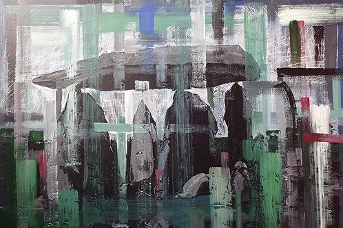 Siambr Gladdu Pentre Ifan | Acrylic on canvas | 92 cm x 61 cm