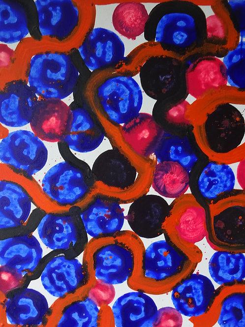 Abstract V | Acrylic on canvas | 50 cm x 40 cm