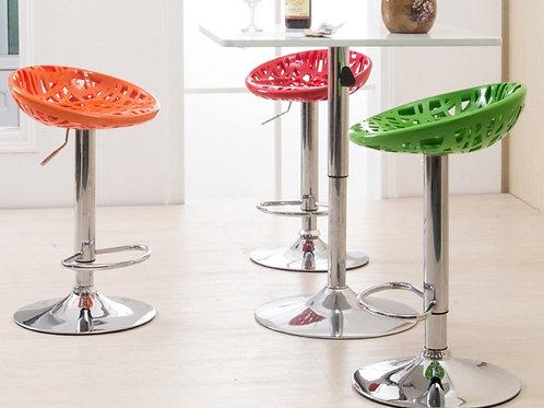 Стул барный  с глянцевой ногой Sieve bar stool
