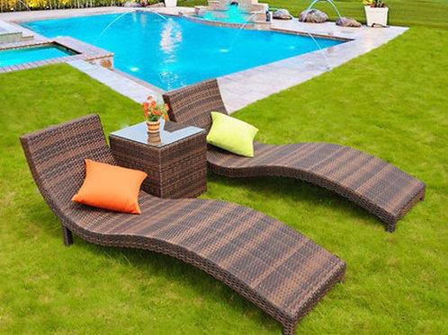 Уличная мебель лежак 3
