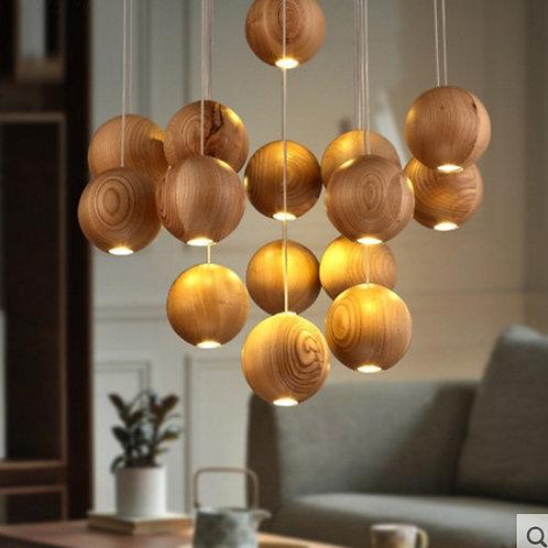 Люстра wooden balls