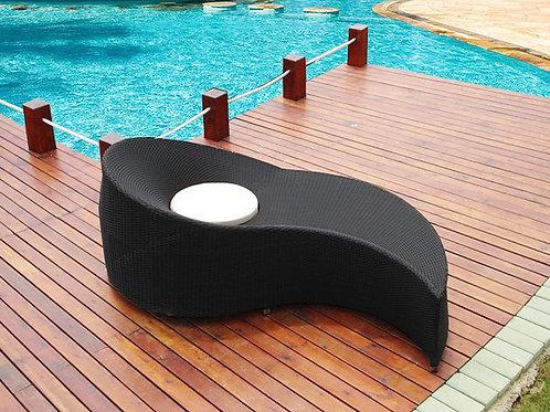 Уличная мебель Лежаки набор (чёрное и белое)