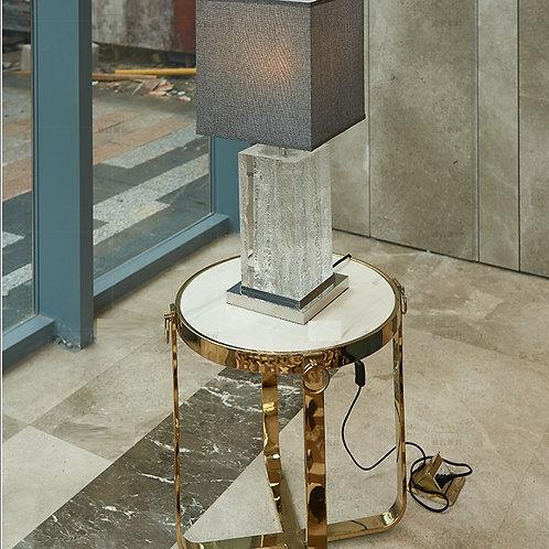 Приставной столик белый мрамор
