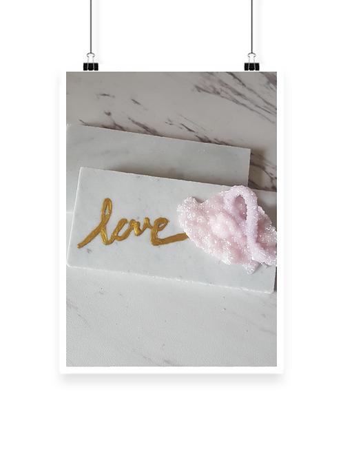 Love Pink Quartz Marble Paper Weight