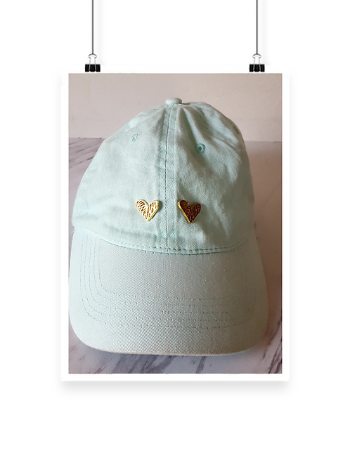 Mona Double Heart Cap