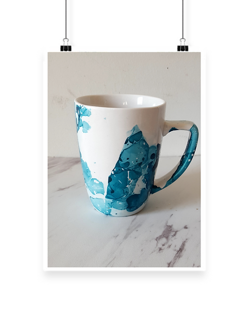 Teal Deco Water Desk Mug