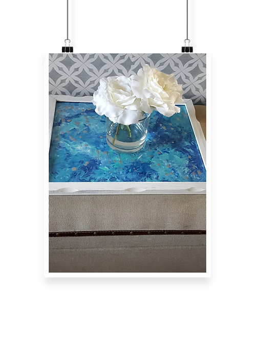 Table Marble Collage Decor