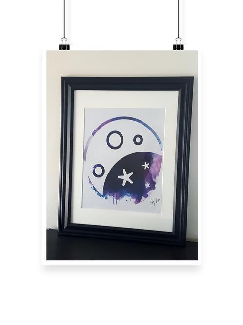 Framed Moon Yang 11x14