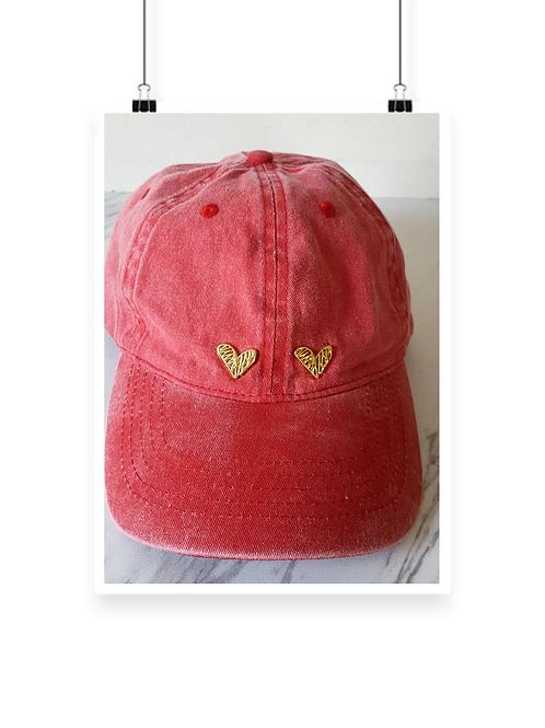 Retta Double Heart Cap