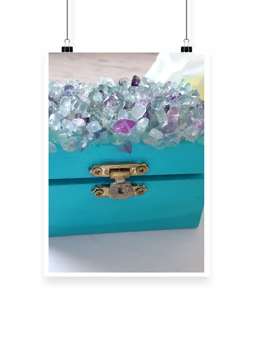 Fluorite Gemstone Box