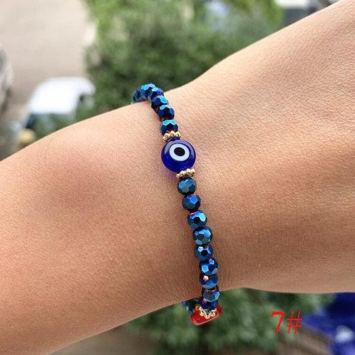 Energy Healing Stone Beaded Eye Bracelet