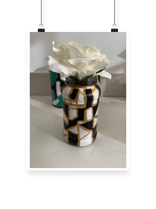 Mosaic Golden Jar