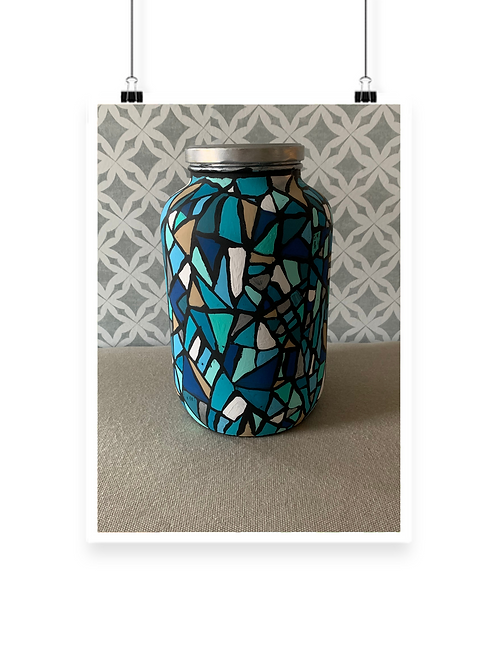 Mosiac Glass Hand-design Jar