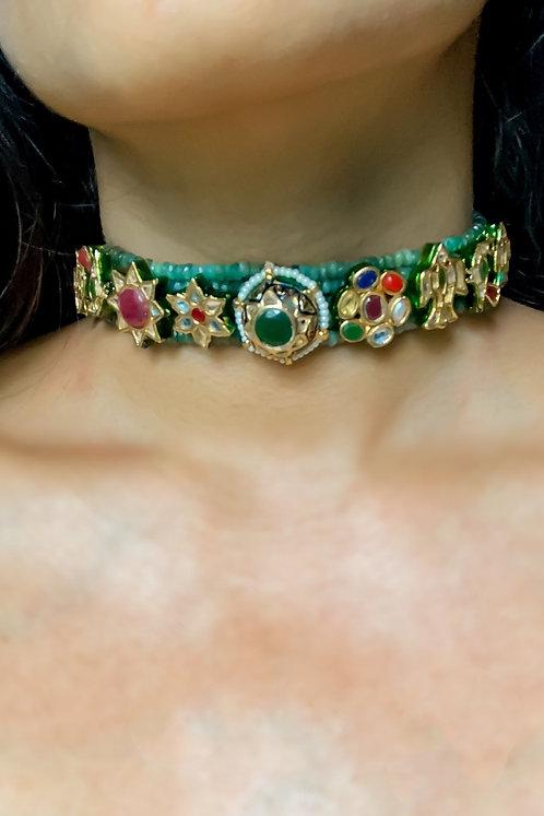 Mela Emerald Choker