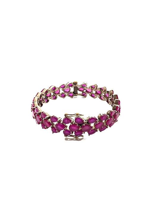 Ruby Pearls Bangle