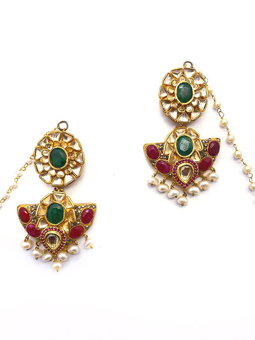 Mehfil Kundan Earrings