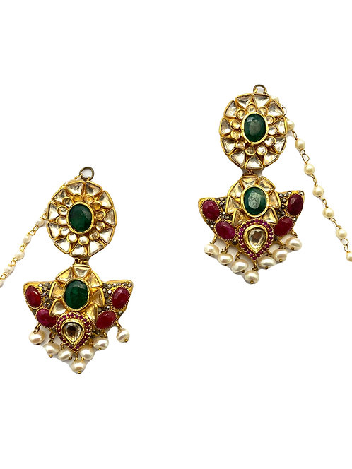 Mekala Kundan Earrings