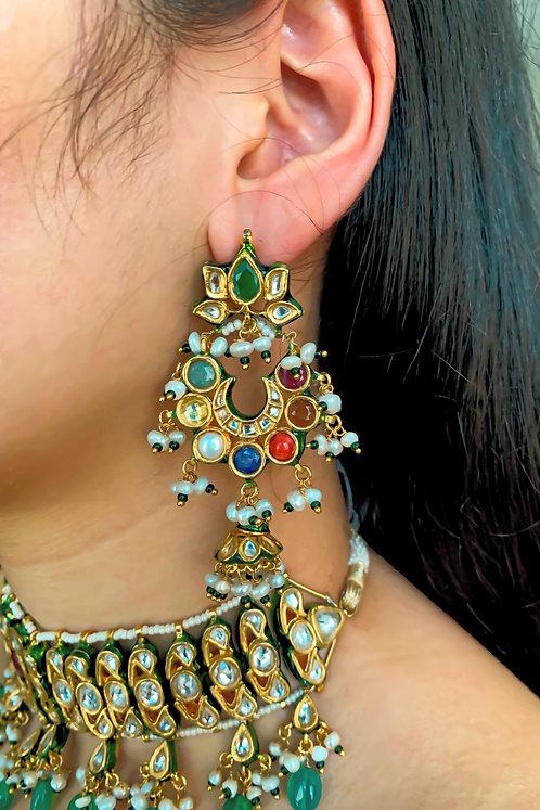 Navratan Putli Earrings