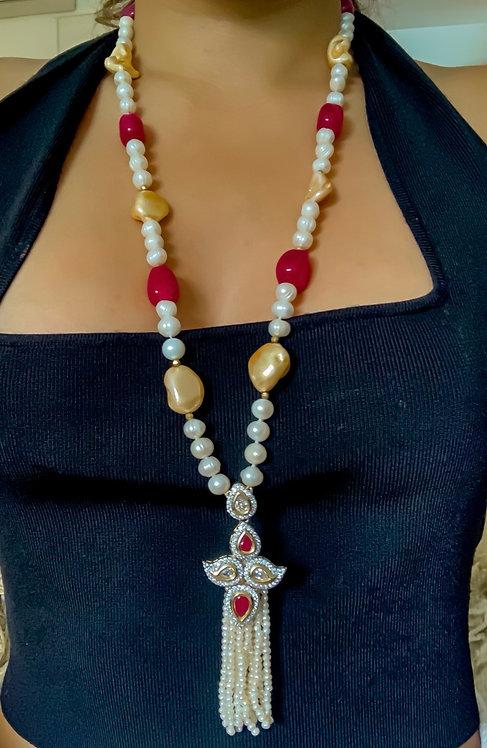 Pearl Jhalar Necklace