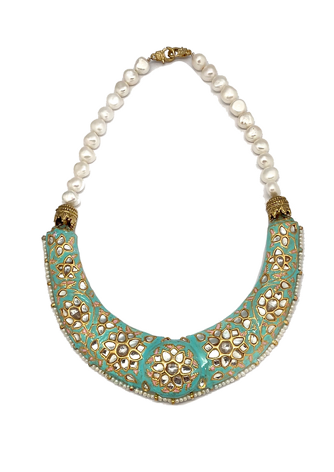 Kundan Hasli Necklace