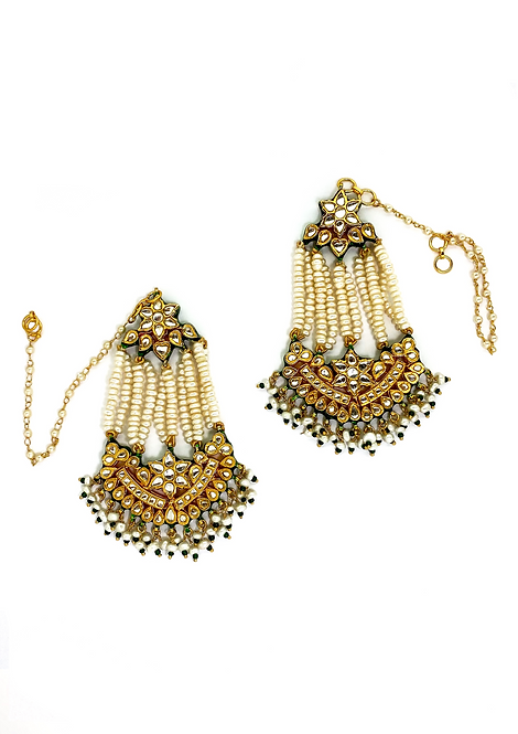 Waterfall  Kundan Earrings