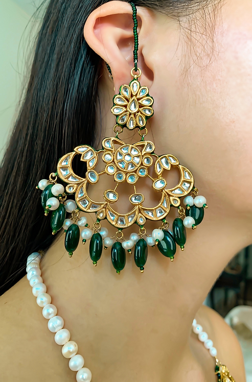 Pankh Kundan Earrings