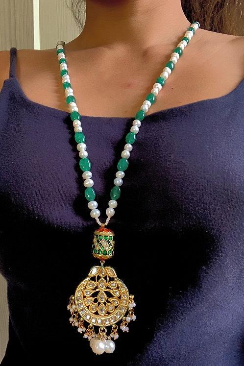 Kundan Damroo Necklace