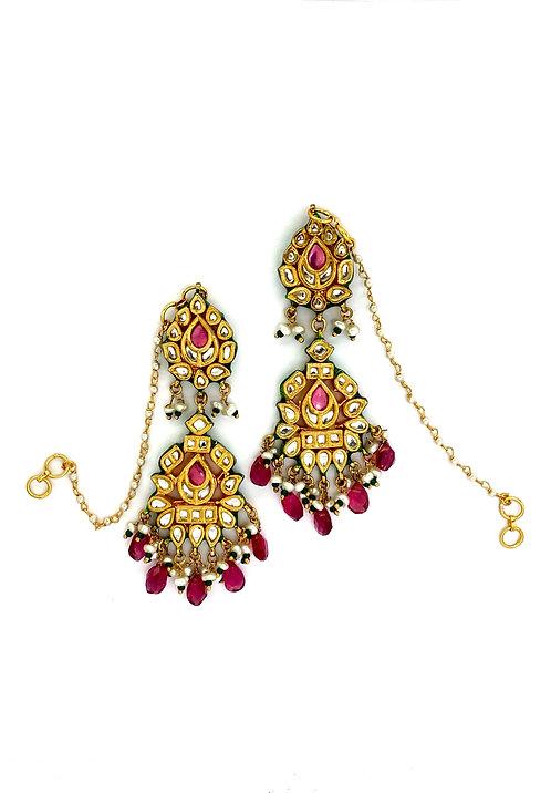 Gulab Kundan Earrings