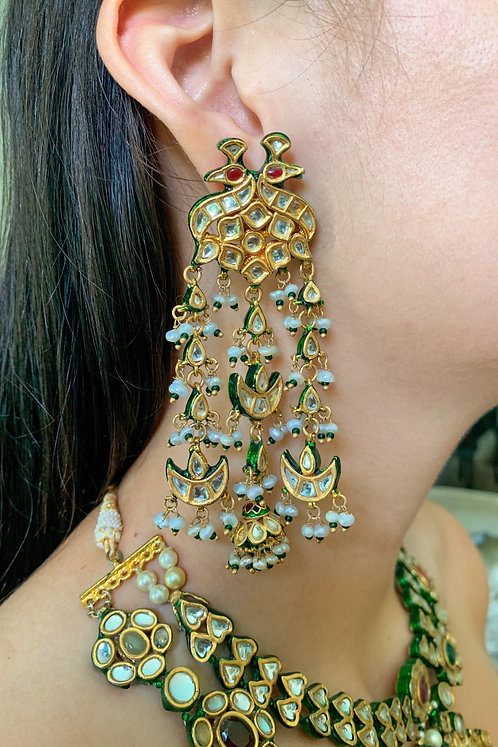 Kundan Bird Earrings