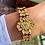 Thumbnail: Kundan Red Meena Bracelet