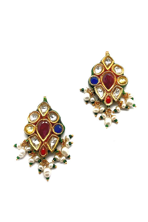 Navratan Dazzle Earrings