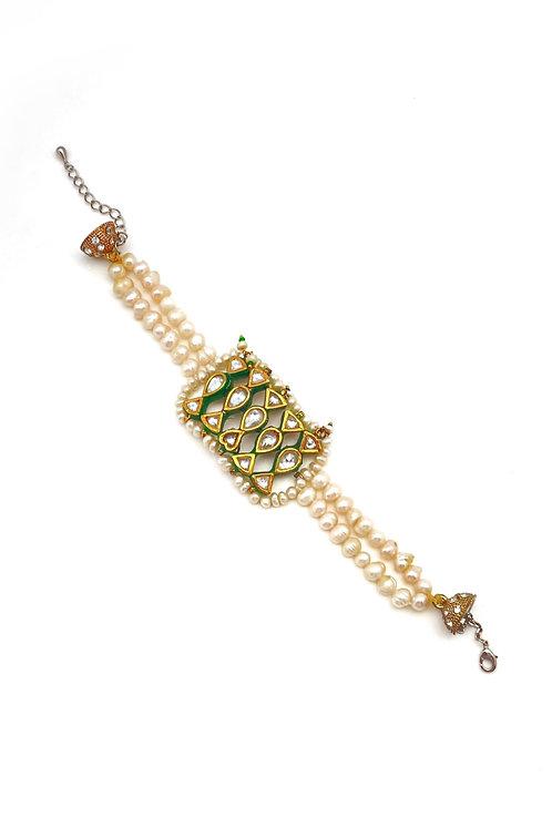 Kundan Amulet Bracelet