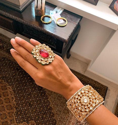 Chakra Kundan Bracelet