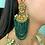 Thumbnail: Jhoomar Green Goddess Earrings